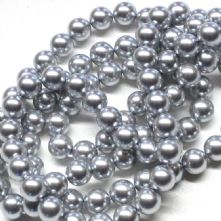 Preciosa Light Grey Pearls